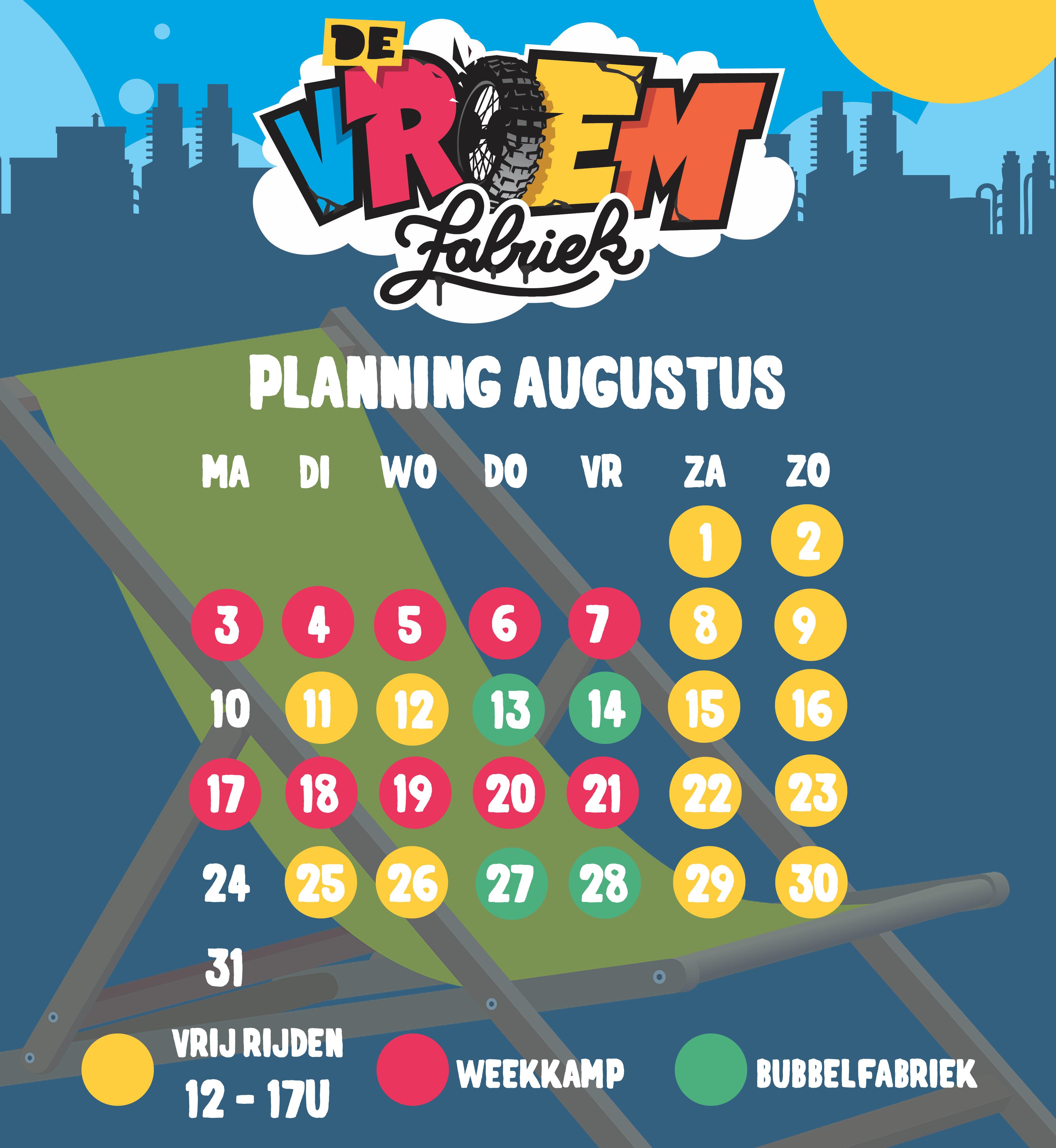 Planning Juli - openingsuren